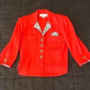 St John Red Knit Jacket 4